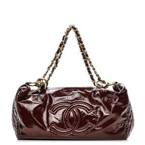 Authentic Chanel Vinyl Medium Rock & Chain Bowler